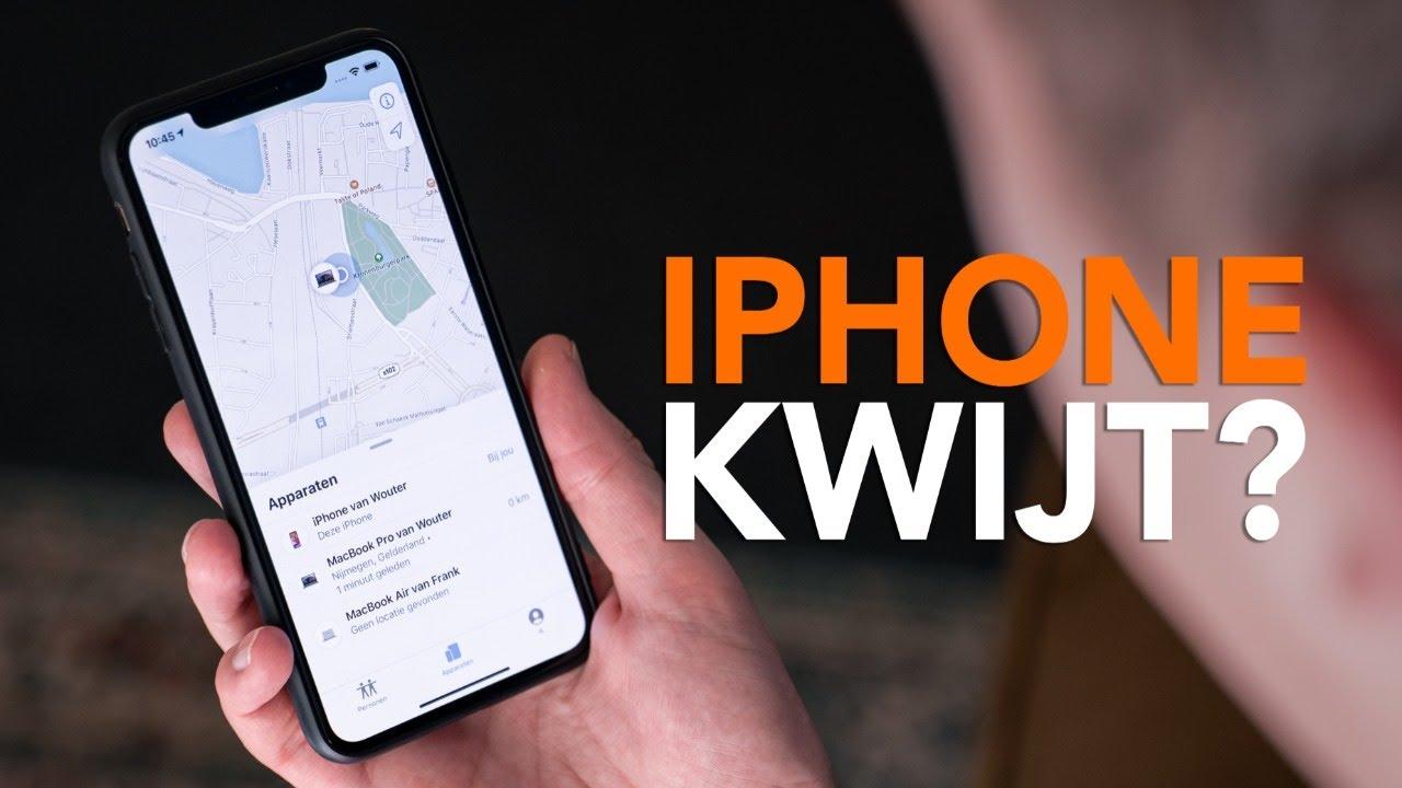 iPhone kwijt? Zo vind je het toestel terug met de Zoek mijn-app