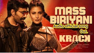 Mass Biriyani Song | Krack | Ravi Teja | Sruti Haasan | Gopichand Malineni| Thaman S
