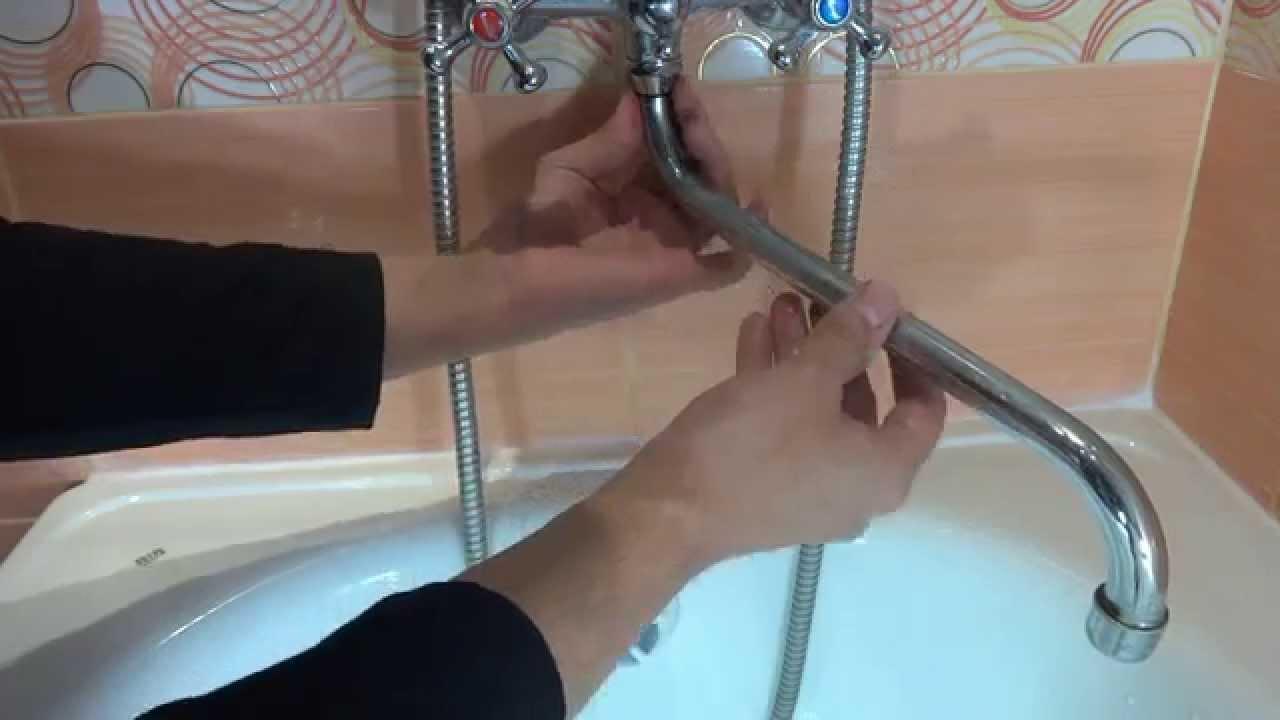 Ремонт гусака смесителя видео