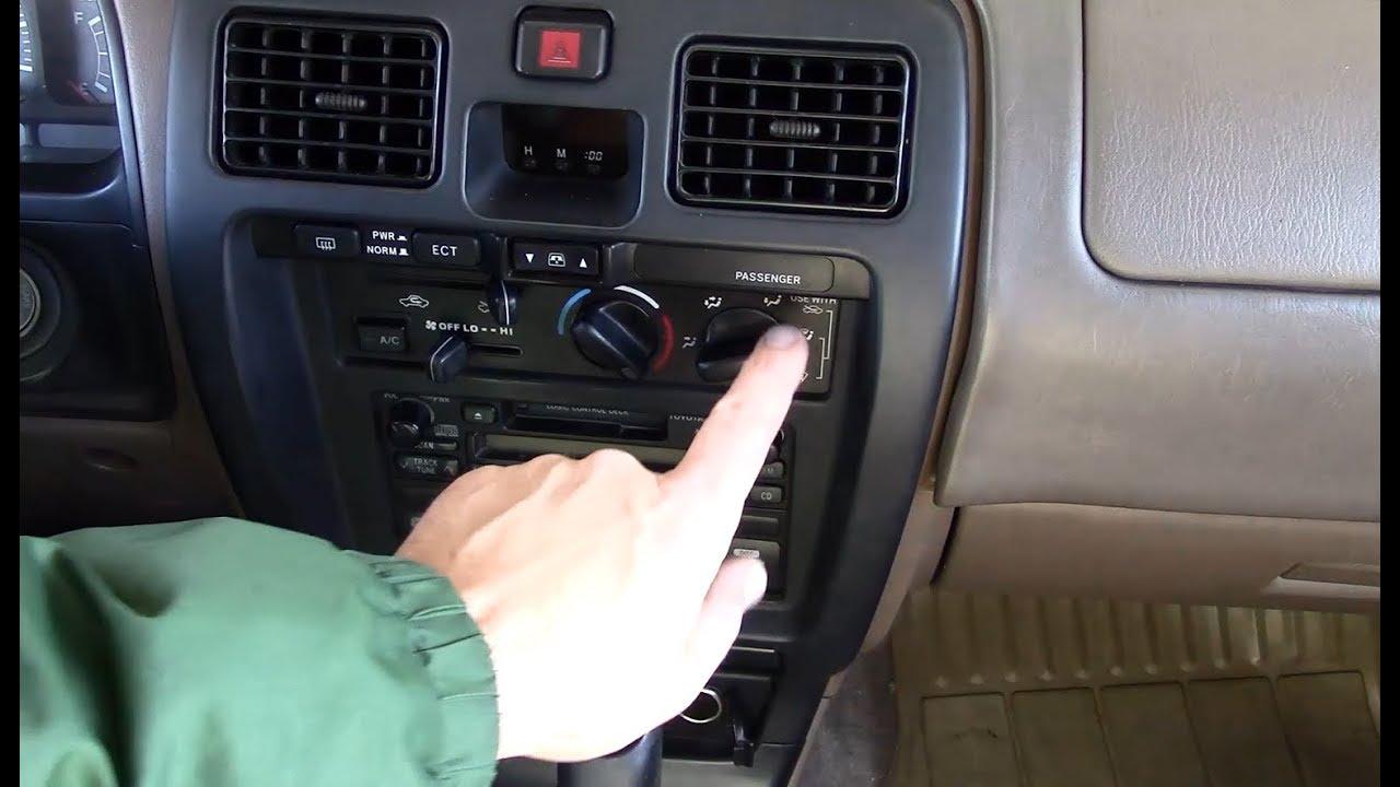 1999 Toyota 4Runner 3rd Gen  Climate Control Light