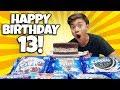 GIANT 10 FLAVOR OREO CAKE for EVAN'S 13th BIRTHDAY!!!