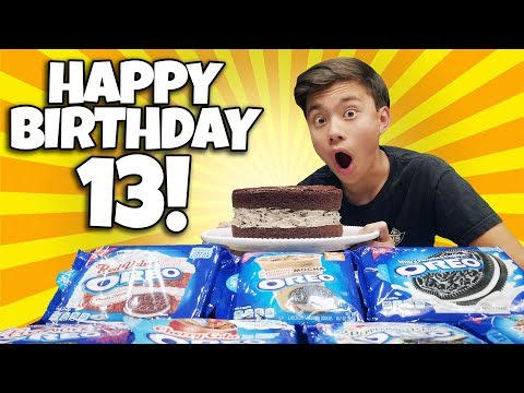 GIANT 10 FLAVOR OREO CAKE for EVAN'S 13th BIRTHDAY!!!