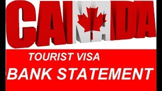 How Much Bank Statement Required For Canada And Sc