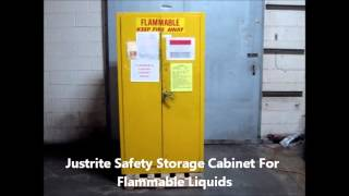 Justrite Safety Storage Cabinet For Flammable Liquids