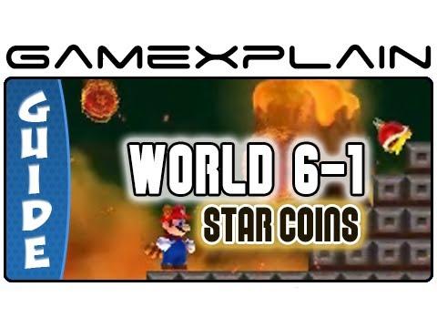 New Super Mario Bros  2: Level 6-1 Star Coin Guide & Walkthrough (Nintendo  3DS)