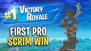 My FIRST Ever Pro Solo Scrim Win! (Pro Console)