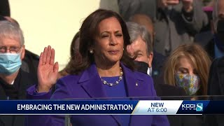 'She has broke the hard glass ceiling': Iowans say they identify with VP Kamala Harris