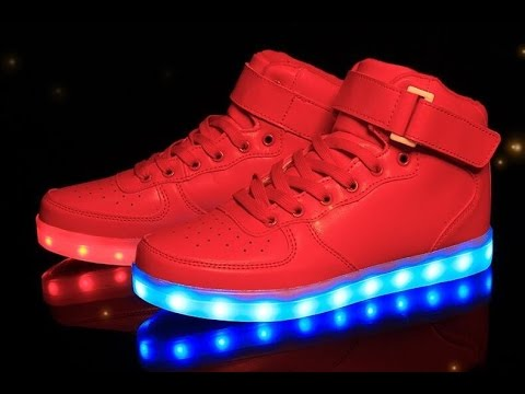 Check out these Red LED Shoes - YouTube