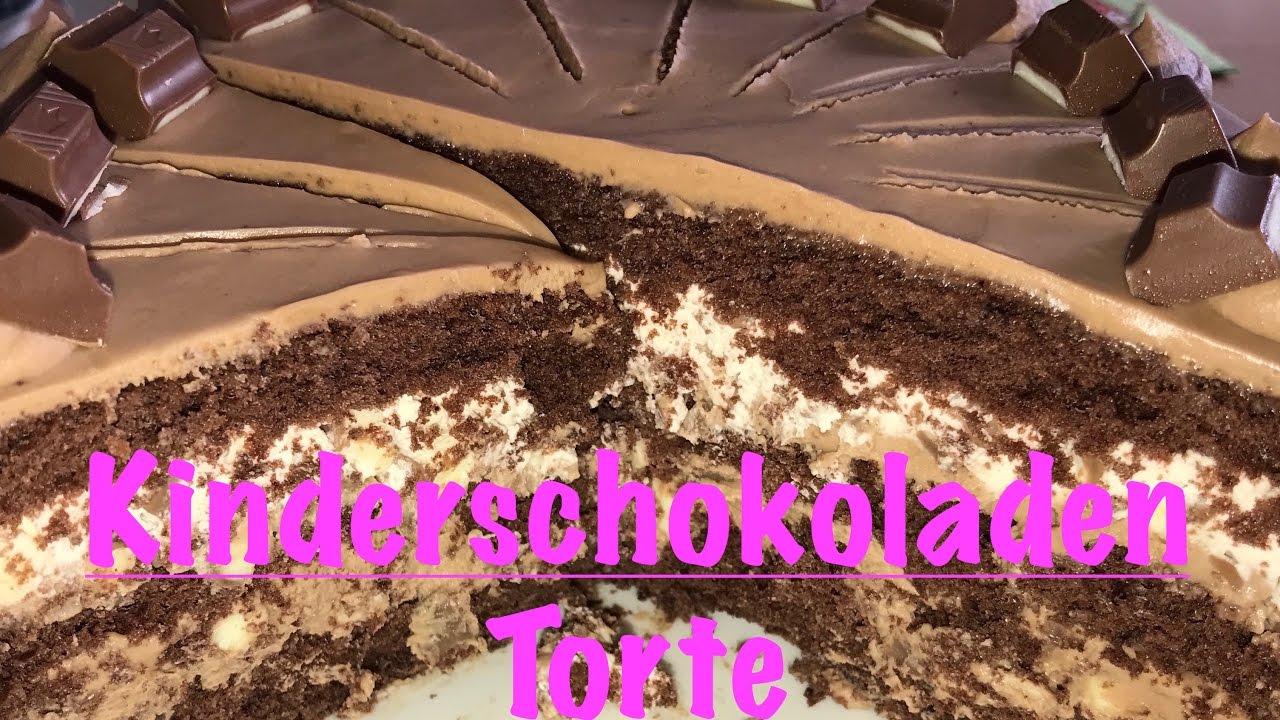 Kinderschokoladen Torte Kuchen Backen Mohrenkuchen
