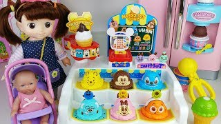 Baby Doll surprise eggs and Ice cream shop toys play - 토이몽