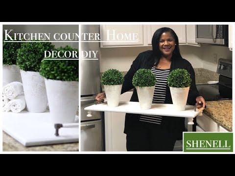 Kitchen Counter Home Decor DIY/serving tray