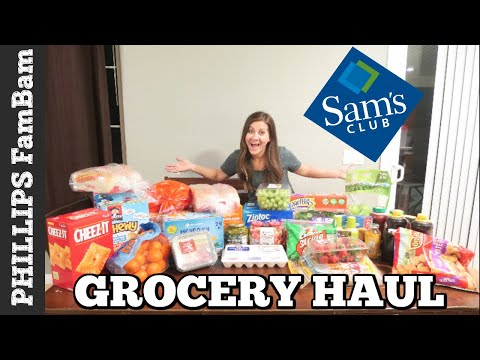 MASSIVE SAM'S CLUB GROCERY HAUL on a BUDGET | LARGE FAMILY GROCERY HAUL | PHILLIPS FamBam Hauls