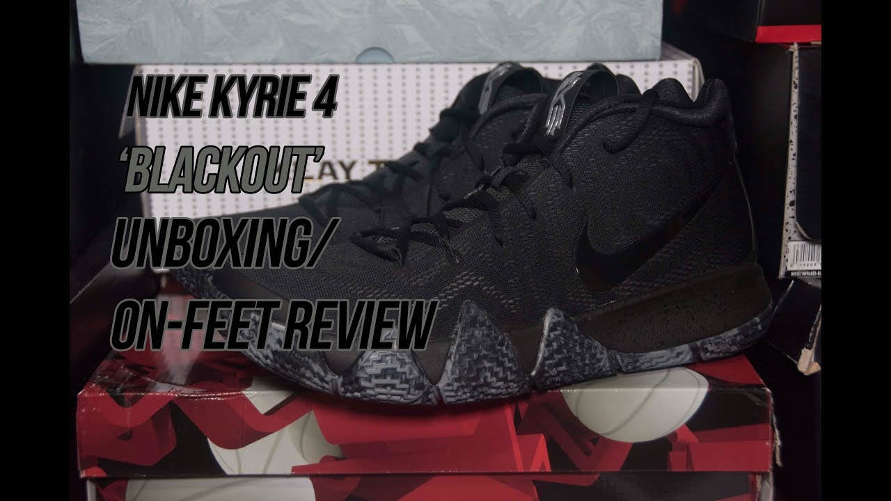 check out 6203a b11a4 Nike Kyrie 4 'Blackout' | Solepost Unboxings