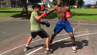 ASIAN Boxer vs AFRICAN Boxer (STREET BOXING)