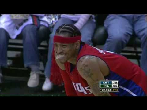 Allen Iverson 18pts vs Milwaukee Bucks 08/09 NBA