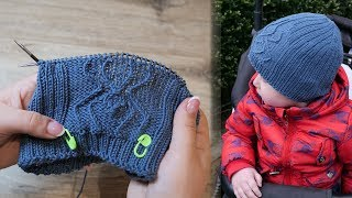 Шапка «Паучок» мальчику спицами | Knitted Hats For Baby Boys «Spider»