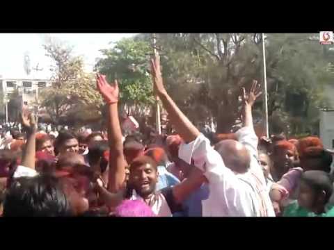 Yogesh Gowda Celebrations In Hebballi  BJP Candidate Won In Hubli