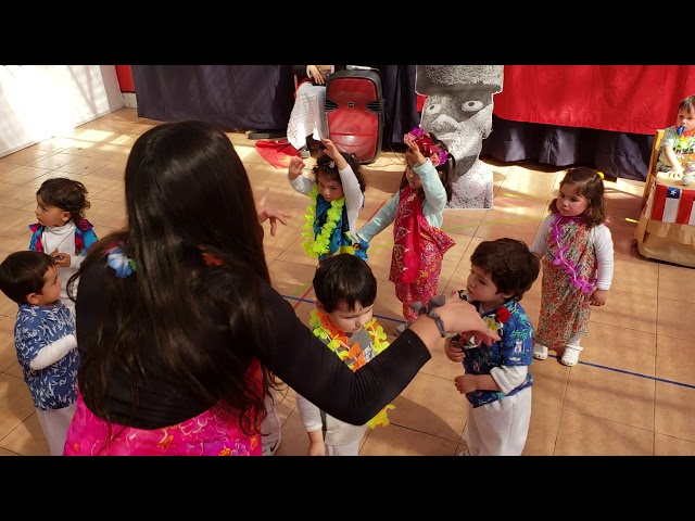 Baile Rapa Nui 2018, Sala roja tarde.