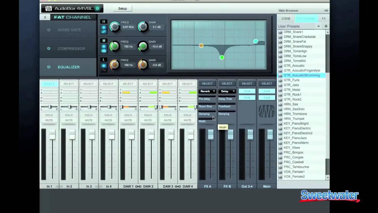 Download and install PreSonus AudioBox 22VSL driver
