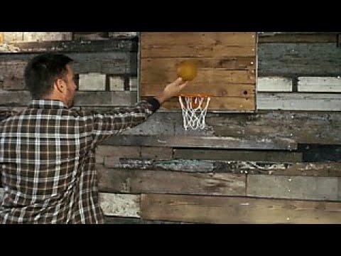 DIY Barnwood Basketball Hoop - DIY Network