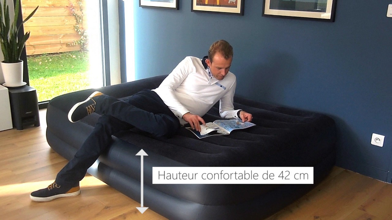 Le Matelas Gonflable électrique 2 Places Intex Rest Bed Fiber Tech