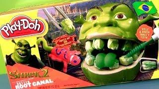 Massinha Play-Doh Shrek 2 Raiz Podre Dente de Ogro Dreamworks Brinquedos Para Crianças
