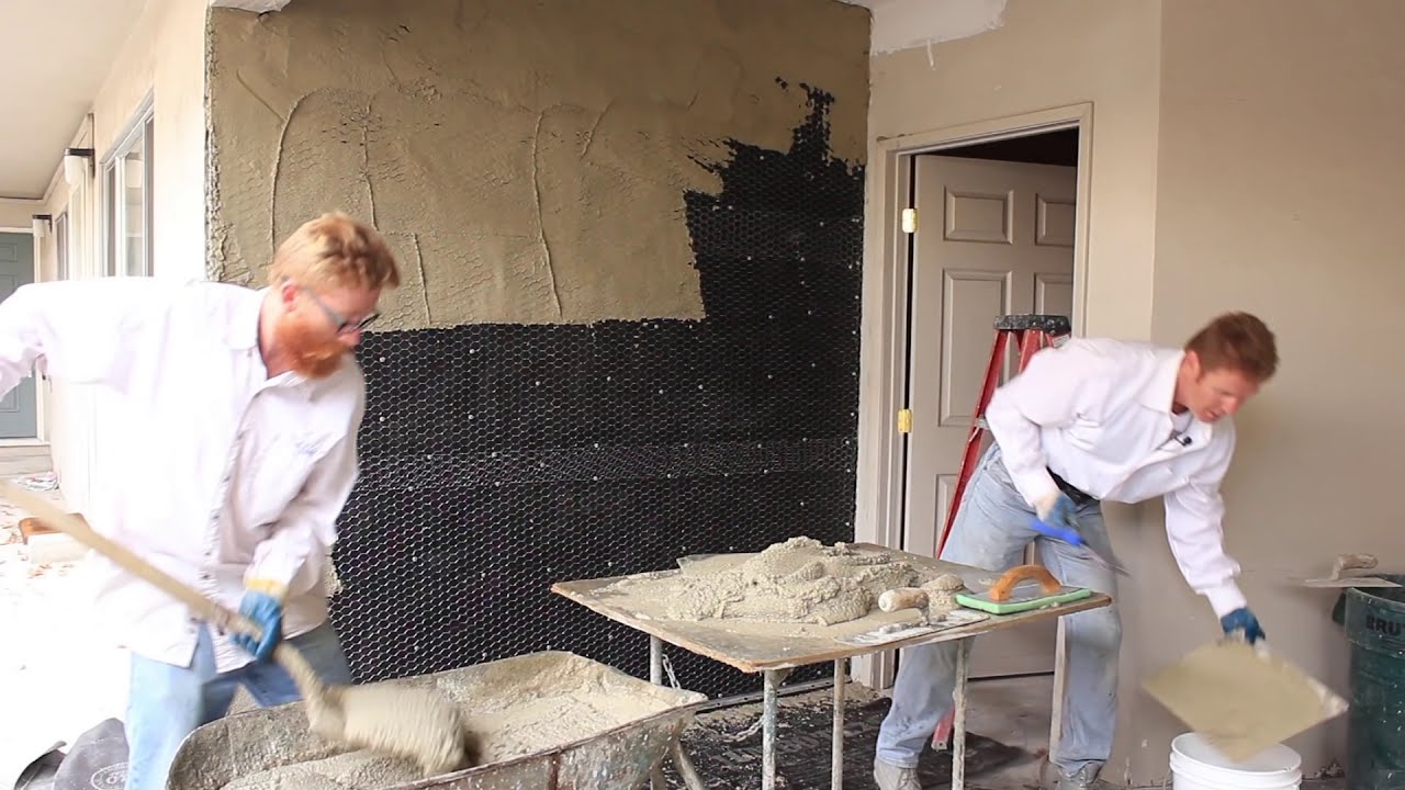 Plastering professionals teaching diy weekend warriors how to plaster youtube How to plaster a house exterior