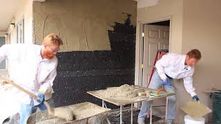 Plastering professionals teaching DIY weekend warriors how to plaster