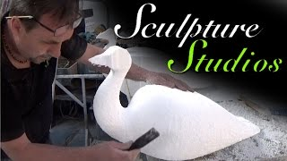 Peacocks from Polystyrene / Styrofoam by Sculpture Studios