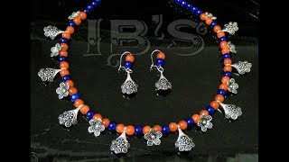 CH & HJ - 20 pieces exclusive handmade necklace designs made by  antique silver & beads