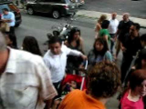 Crowd Outside Soho Photo Gallery