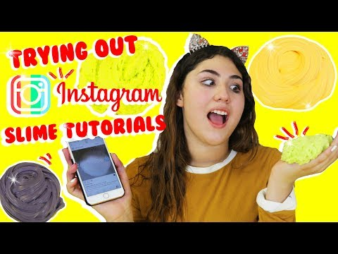 TRYING OUT INSTAGRAM SLIME TUTORIALS | Recreating popular Instagram slimes | Slimeatory #129