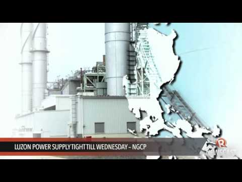 Luzon power supply tight till Wednesday -- NGCP