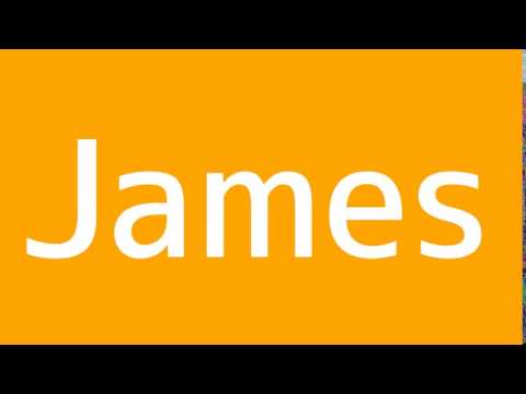 How to say James in Spanish