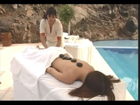 hot stone massage session