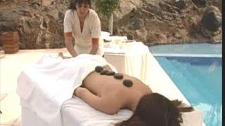 hot stone massage session