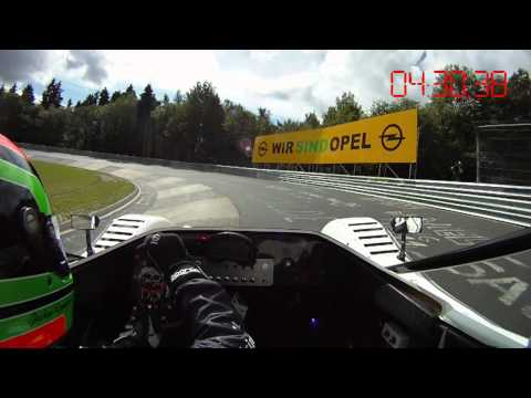 Toyota Nürburgring electric vehicle record setting lap - in car footage