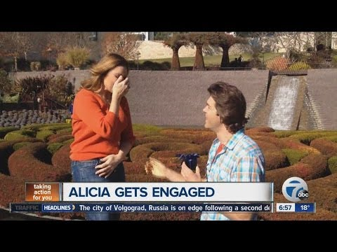 Erik Karell and Alicia Smith get engaged