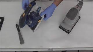 How to fold and cut sandpaper  1/2 sheet sander 1/3 sheet palm sander
