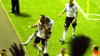 Karagounis freekick Leicester City v Fulham