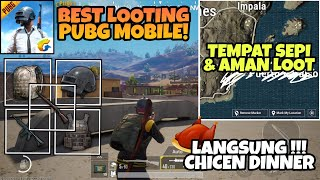 Tempat Looting Teraman di Map Miramar PUBG MOBILE ! Tas, Armor, Helm Lv.3 Sampai Chicken Dinner !