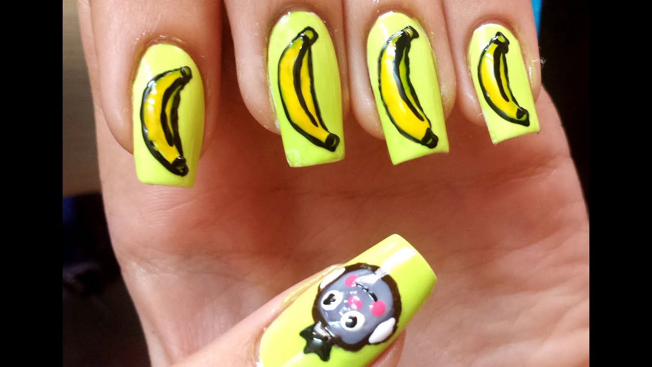 easy monkey nail art