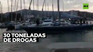 Policía española aborda cuatro veleros repletos de hachís en altamar