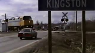 CN Railway Crossing on Counter St in Kingston, Ontario 1990s