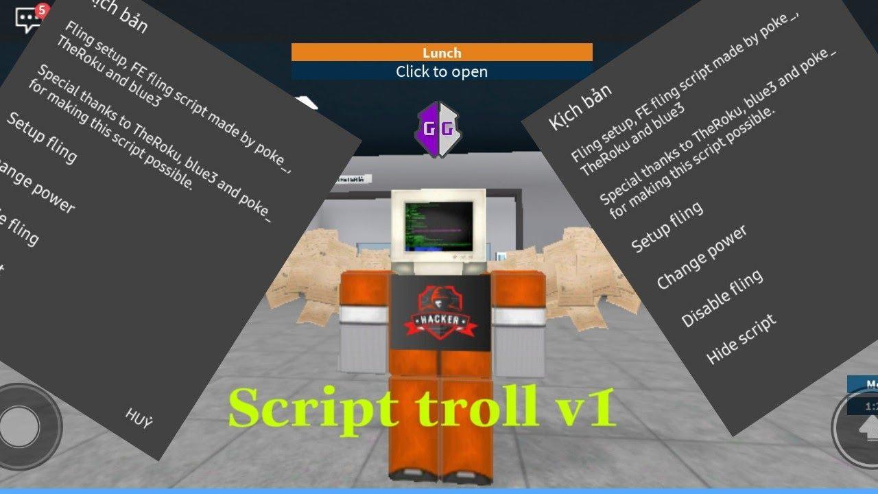 Script Hack Roblox Game Guardian Script Troll V1 Youtube