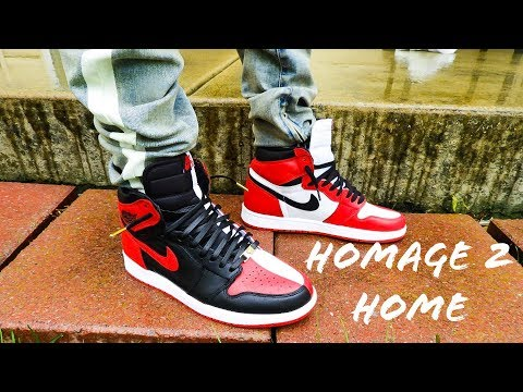 Air Jordan 1 Homage To Home On Feet Review + Dope Lace Swap