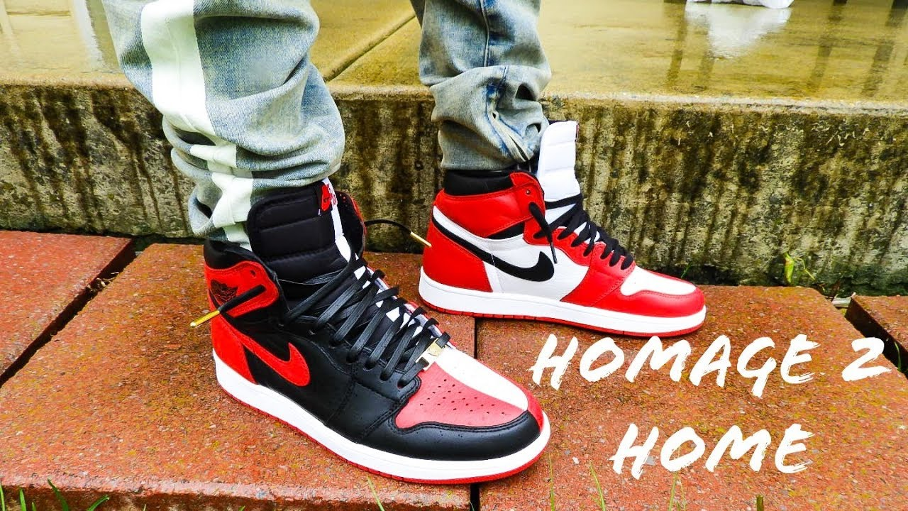 Air Jordan 1 Homage To Home On Feet Review + Dope Lace Swap - YouTube 0878d86ec