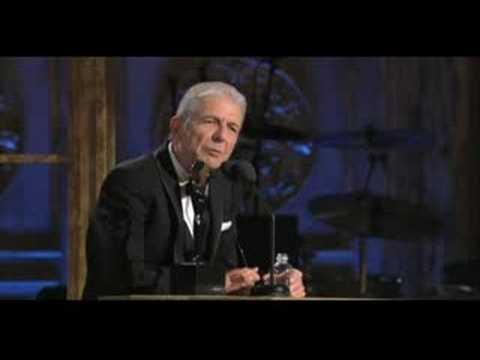 Induction of Leonard Cohen