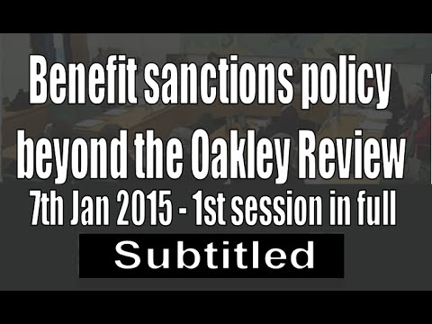 1st session - Benefit sanctions beyond Oakley Review (subtit
