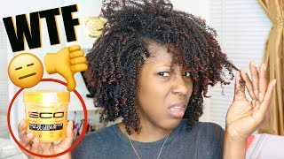 IMA NEED MY $18 BACK!!😡😤 Type 4 Natural Hair Wash and Go FAIL // New Eco Styler GOLD GEL
